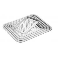 Food Grade Perforated Baking Tray Stainless Steel Material With Round Hole Manufactures