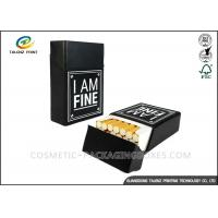 China Custom Printed Small Cigarette Case Stock Cardboard Box For Cigar Packaging on sale