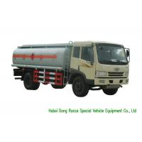 FAW 15000Liter Mobile Fueling Trucks / Fuel Tanker Truck With PTO Fuel Pump Manufactures