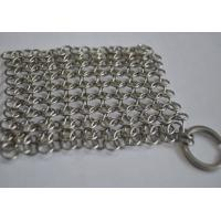 China Round Stainless Steel Ring Mesh / Chainmail Scrubber For Cleaning Kitchenware on sale