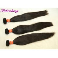 Natural Wave Virgin Indian Hair , Real Indian Straight Human Hair For Black Woman Manufactures