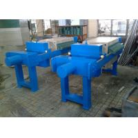 Blue Plate And Frame Filter Press Equipment , Frame And Plate Filter Press Manufactures