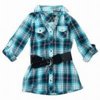 China Stocks Women's Blouse, Stock Lots, Stock Clothes, Stock Garment, Made of 100% Cotton on sale