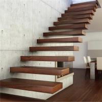 Cantilever staircase features natural oak-clad treads with high quality Manufactures