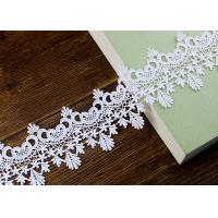 Floral Embroidered Chemical Poly Milk Lace Ribbon Trim Water Soluble Azo Free Manufactures