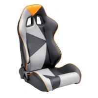 Adjustable Style PU / PVC Leather Racing Seat / Sports Car Seat with single slider Manufactures