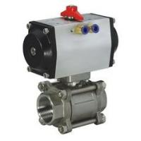 """Quality 1/4"""" - 4"""" Pneumatic Ball Valves Water Oil Gas Acid SS Ball Valve -20℃ - 190℃ for sale"""