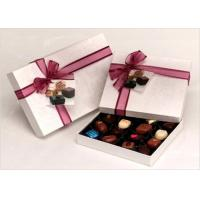 Neat Choclate Custom Packaging Boxes With Ribbon , Packaging Cardboard Boxes Manufactures