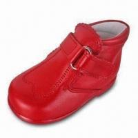 China Children's Dress Shoes in Red Color, Made of Leather on sale