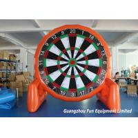 Customized Size Inflatable Sport Games , Airtight Giant Inflatable Foot Darts Manufactures