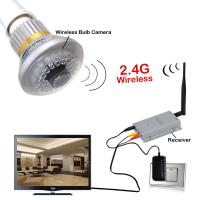 Buy cheap 2.4G Wireless Bulb CCTV Security AV Camera with Receiver Using 600TV lines censor, 36pcs Invisible IR LEDs (940nm) from wholesalers