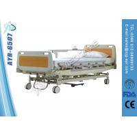China Customized Foldable Manual Hospital Bed ABS Head And Foot board on sale