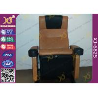 Cold Molded PU Sponge Movie Theaters Chairs PP Shell For 3 D Cinemas Manufactures