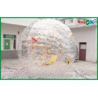 0.7mm TPU Giant Bubble Inflatable Zorb Ball / Inflatable Sports Games Manufactures