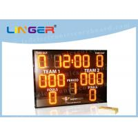 Indoor Outdoor LED Basketball Scoreboard Yellow Color with Waterproof Frame Manufactures