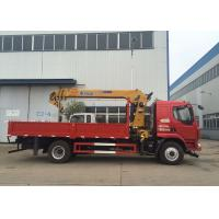 New XCMG hydralic Telescopic Boom Truck Loader Crane , 8T Truck Mounted Crane CE ISO Manufactures