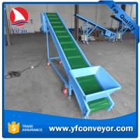 China Inclined Cleated Belt Conveyor with Hopper on sale