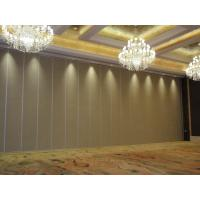 China Restaurant lobby aisle movable wooden folding partition wall MDF Panel Customizable Color for Banquet Hall on sale