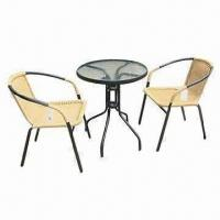 3 pieces bistro set, includes 1 table and 2 chairs Manufactures