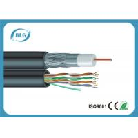 Multi Function Low Loss Coaxial Cable , CCTV Camera Coaxial Audio Cable Manufactures