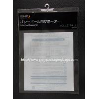 Transparent Plastic Bags With Hangers For Toy , Gift , Electronic Products Manufactures