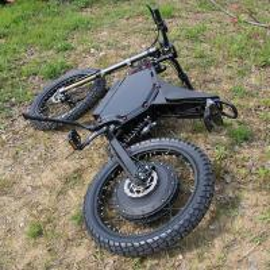 China 110 km/H Full Suspension Mountain Bike , 72V12000W Powerful Electric Bike on sale