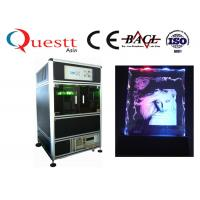 532 Nm 3D Laser Glass Engraving Machine 300x400x130 Mm For Crystal Glass Manufactures