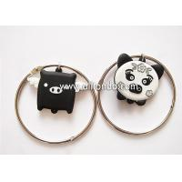 Creative cartoon pig design pvc keychain with bracelet unique luggage tag shape ornaments key ring Manufactures