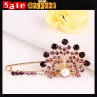 Peacock Flower Brooch Pins Collar Suit Stick Breastpin Pin Men Women