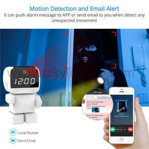 Robot wifi cctv ip wireless camera with alarm clock  smart home robot camera Manufactures