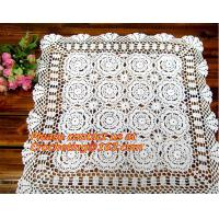 China round crochet tablecloth white round tablecloths, Corcheted Lace Table linen, Tablecloth on sale