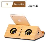Portable Wireless Bluetooth Speaker with  wooden gifts Usb Charging Port  FM radio display online Manufactures