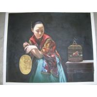 China Chinese figure oil painting,woman canvas art on sale