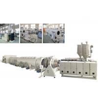China Red Color PE Pipe Making Machine , PE Pipe Extrusion Line 415-630MM Diameter on sale