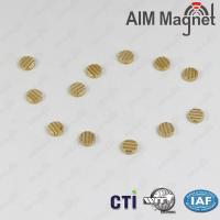 China High performance gold disc neodymium magnet on sale