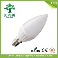Office Ceramic LED Candle Light Bulbs Warm White 6500k , LED Candelabra Bulbs Manufactures