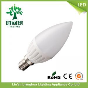 Office Ceramic LED Candle Light Bulbs Warm White 6500k , LED Candelabra Bulbs Manufactures
