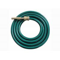 Non Toxic PVC Fiber Braided Reinforced Flexible Garden Water Pipe Hose with Brass Connector Manufactures