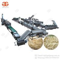 Factory Price Full Automatic Sweet Frozen French Fries Frying Processing Line Plant Potato Chips Making Machine for Sale Manufactures