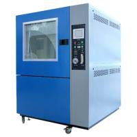 Window Manual Control Sand Testing Equipment , Dust Testing Chamber Wiper Blowing Manufactures