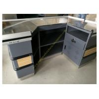 6 Feet Long Supermarket Checkout Counter , Wood And Steel Clothing Shop Cashier Counter Desk Manufactures