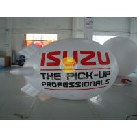 Inflatable 0.18mm PVC Helium Zeppelin , Exhibition Digital Printing Helium Airships Manufactures