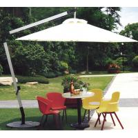 2.5M Beige Double Patio Umbrella , Round Offset Umbrella With 360 Degree Rotating Base Manufactures