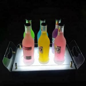China Acrylic Led Bar Shelves Led Liquor Shelf Display Stand Tray For Storage on sale