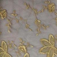 China Fashionable Lace Fabric with Gold Thread, Various Color Are Available on sale