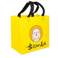 Colored Non Woven Shopping Tote Bags 100% Virgin PP Material Soft Loop Handle