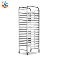 Quality Stainless Steel Bread Baking Rack , Baking Oven Trolley Square Tube for sale