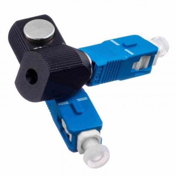 Quality Blue Round SC Bare Network Fiber Optic Adapter Single Mode UPC Polishing for sale
