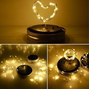 China LED Fairy Light Solar Bottle Cap Light For Mason Jar Garden Christmas Lights Decorative Outdoor Wedding Decor on sale