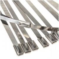 Custom Size 304 Stainless Steel Ball Lock Cable Ties High Tensile Strength Manufactures